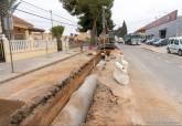 Obras de mejora del alcantarillado en El Albujón