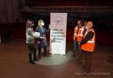 Entrega de cheque al Banco de Alimentos en el Nuevo Teatro Circo