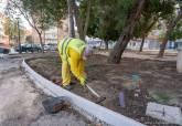 Trabajos de remodelación del parque Sauces