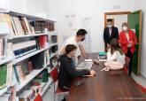 Visita a la biblioteca Municipal Francisco Martínez Hernández en La Palma