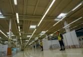 Visita al centro de vacunación habilitado en el Centro Comercial Rambla