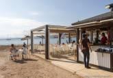 Chiringuito en el litoral de Cartagena