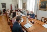 Reunión de la Junta de Gobierno y posterior comparecencia de la alcaldesa, Noelia Arroyo