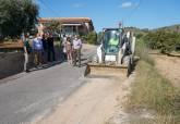 Obras del Camino de Los Chorrillos en Cuesta Blanca