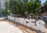 Obras de remodelación del Parque Sauces