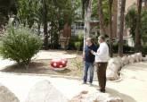 Juan Pedro Torralba visitando las obras del parque Sauces