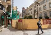 Obras en calle Campos y plaza del Rey.