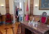 Reunión de la alcaldesa y el presidente de la Comunidad Autonoma para abordar la situación del Mar Menor