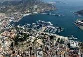 Imagen aérea del puerto de Cartagena