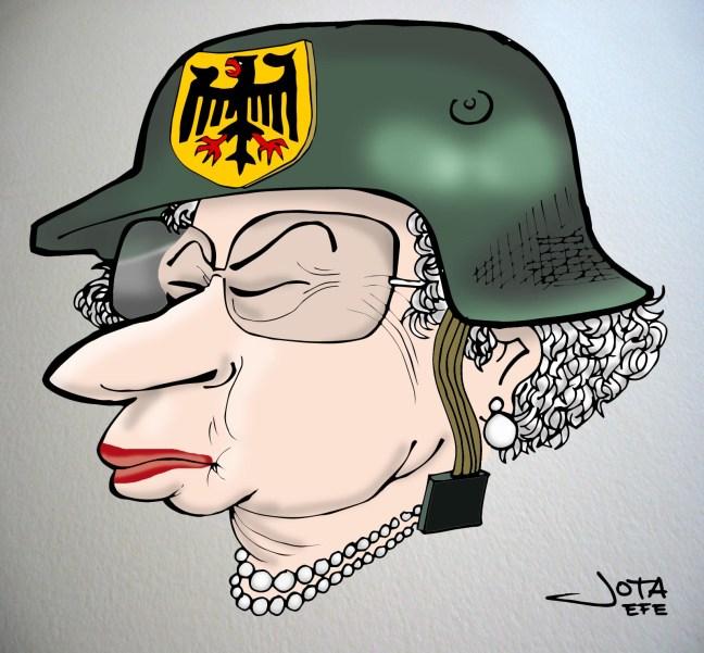 Isabell II de Inglaterra, caricatura