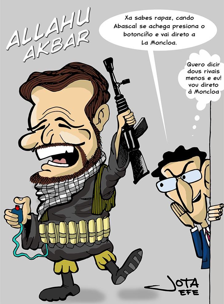 Pablo Casado caricatura