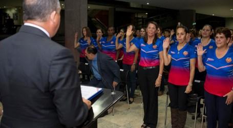Sandra Jiménez fue juramentada para su primer Mundial de Maxibaloncesto