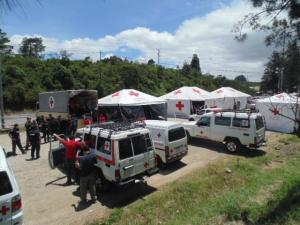 El puesto de Ochomogo fue uno de los que más personas atendió. Foto: Cruz Roja
