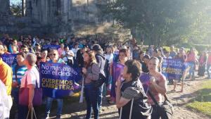 Manifestantes se reunieron a las 7 a.m. en Plaza Mayor. Foto: Alianza Demócrata Cristiana