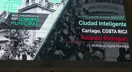 Municipalidad de Cartago recibe reconocimiento internacional