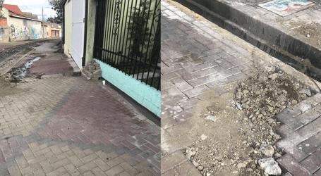 Vecinos molestos por trabajos en el bulevar de la línea de tren