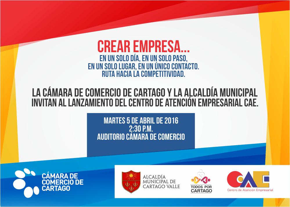 Invitaciones Especiales De La Cámara De Comercio Cartago