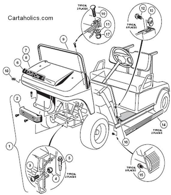 club car ds body diagram  cartaholics golf cart forum
