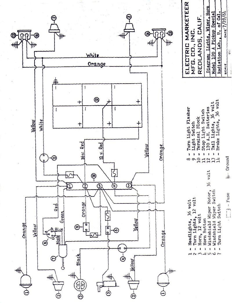 melex electric golf cart wiring diagram