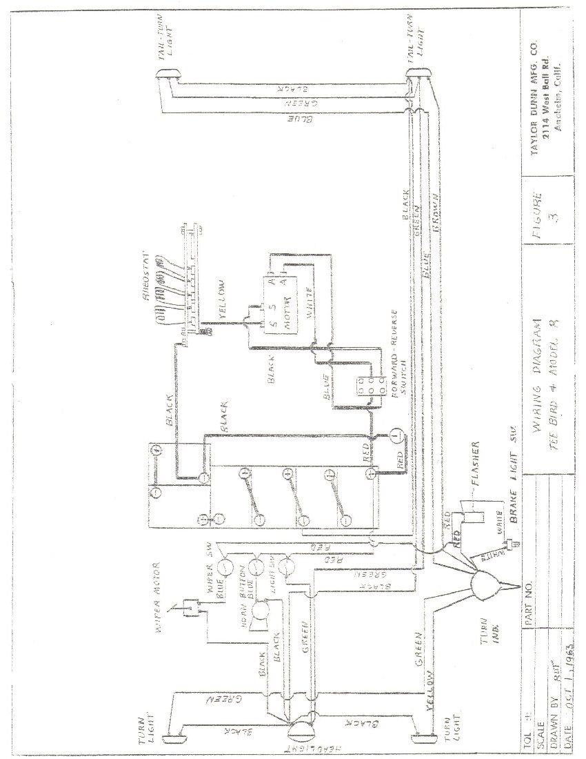 taylor dunn wiring diagram 6 volt rv battery tee bird golf cart schematic best library yamaha td 61 64teebirdandmodelrtrident
