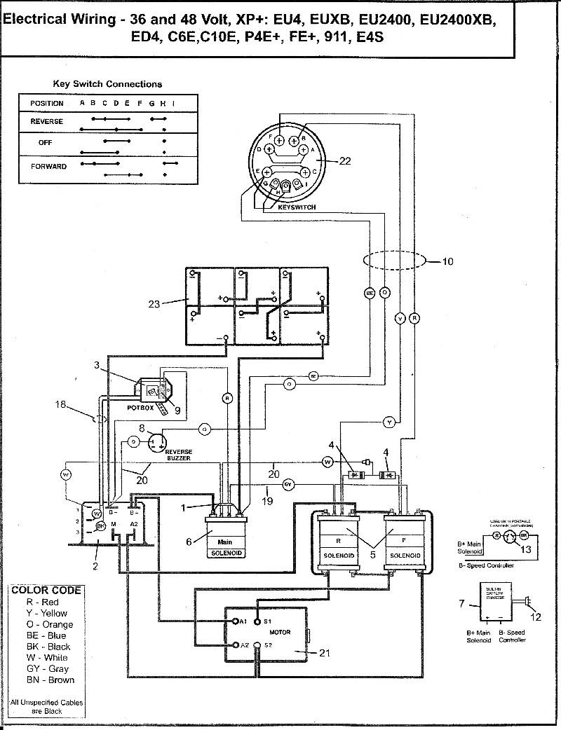 golf cart wiring diagram 48 volt plug