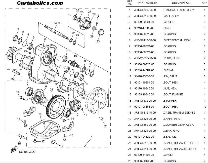 Melex Electric Golf Cart Wiring Diagram Yamaha Golf Cart Rear End Diagram Electric Cartaholics