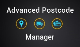 Advanced postcode manager for opencart