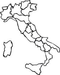 CARTINA ITALIA CON REGIONI E PROVINCE DA COLORARE - Wroc ...