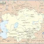 Big Central Asia Map Continent