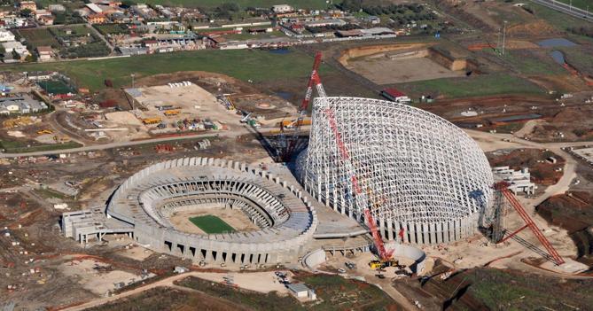 Lo Stadio del Nuoto, mai ultimato per i Mondiali del