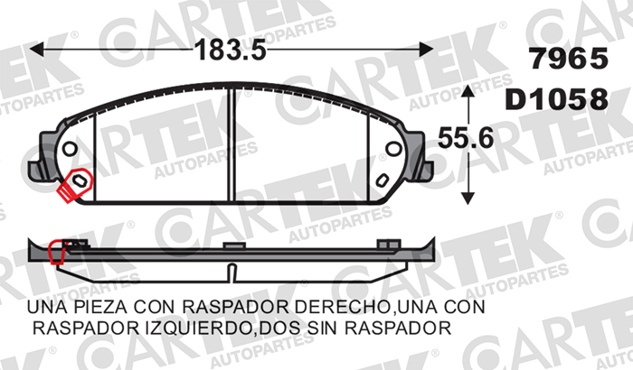 BALATA FRENO DE DISCO C7965-D1058 DODGE CHALLENGER BALATAS