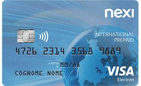 Carta prepagata Nexi International