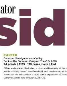 pts wine spectator vintage also carter cellars ratings rh cartercellars