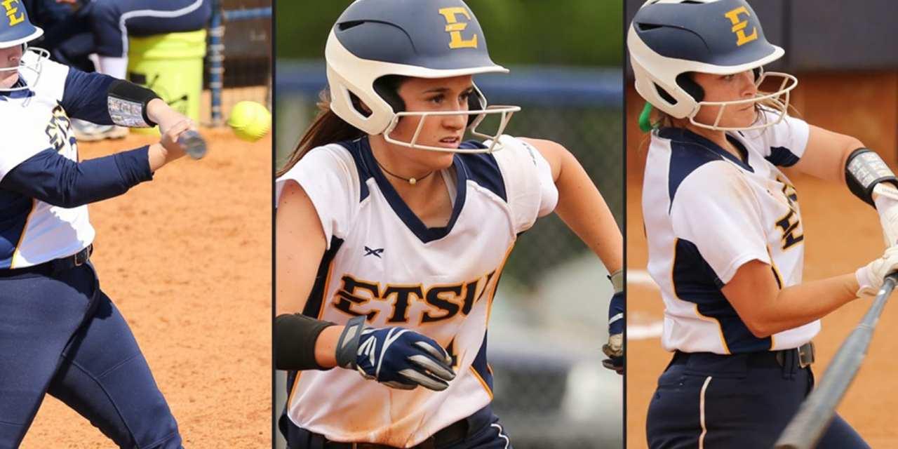 ETSU Softball Lands Three on SoCon Preseason Team