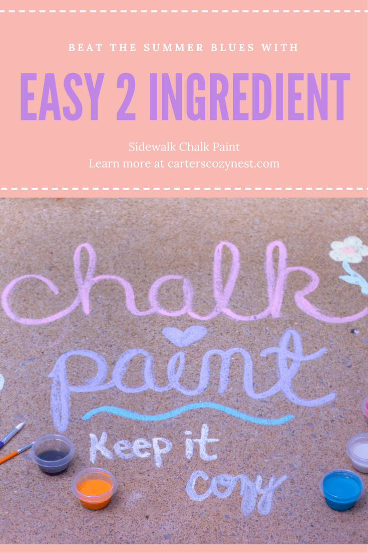 Sidewalk Chalk Paint Pinterest Image