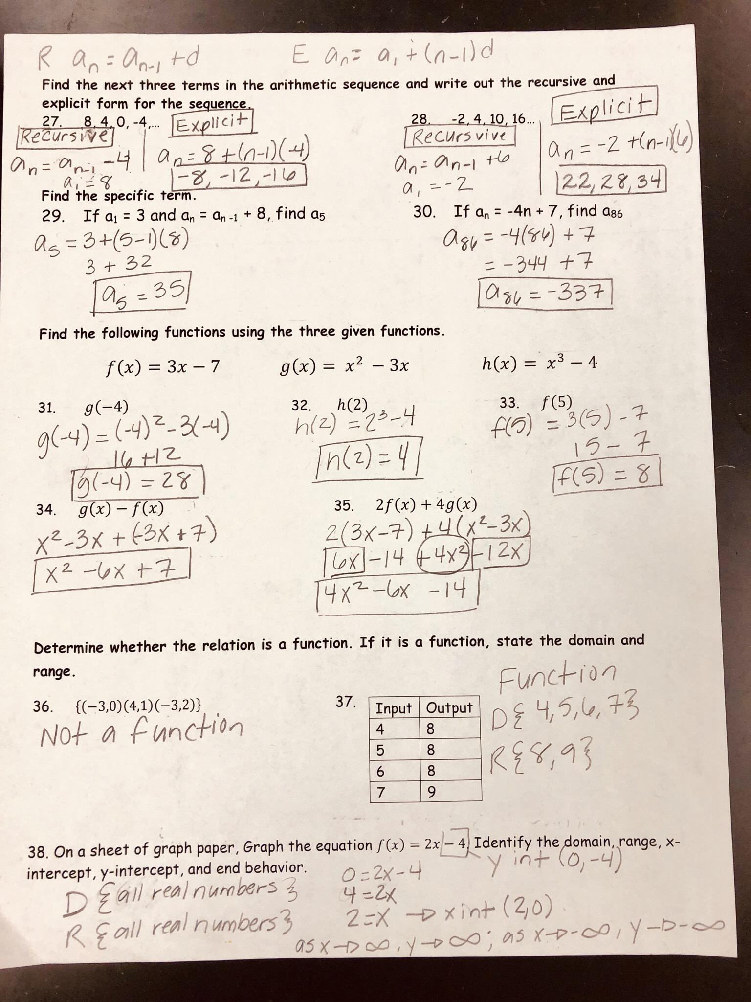 Unit 4 Test Study Guide Solving Quadratic Equations Gina