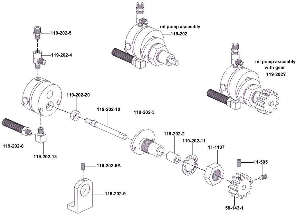 CT-93-R Oil Pump Drawing