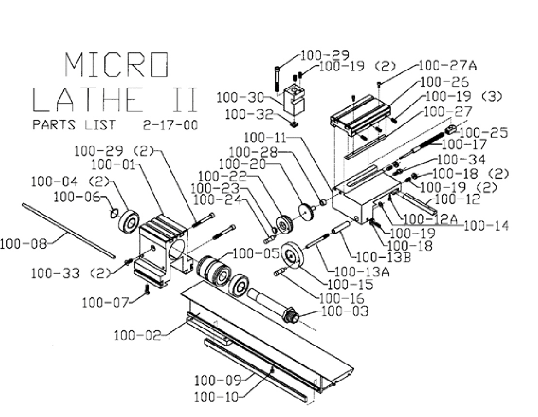 Engine Lathe Parts Diagram