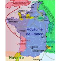 Carte de la guerre de cent ans en 1330