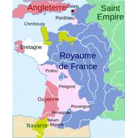 Carte de la guerre de cent ans en 1365