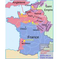 Carte de la guerre de cent ans en 1429