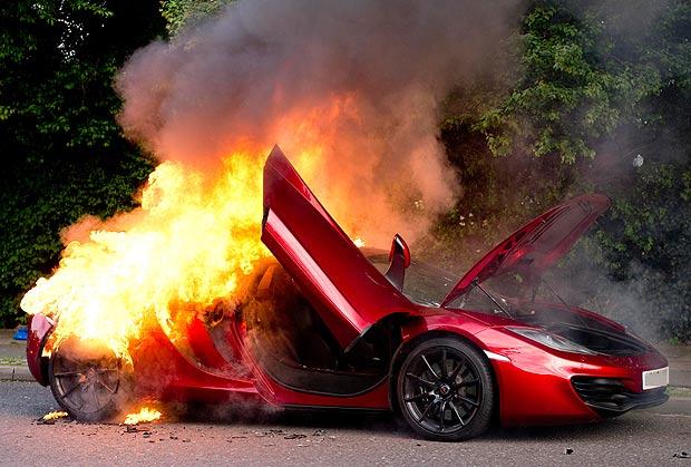 Seeing This McLaren MP4 12C Rental Car In Flames Will Make