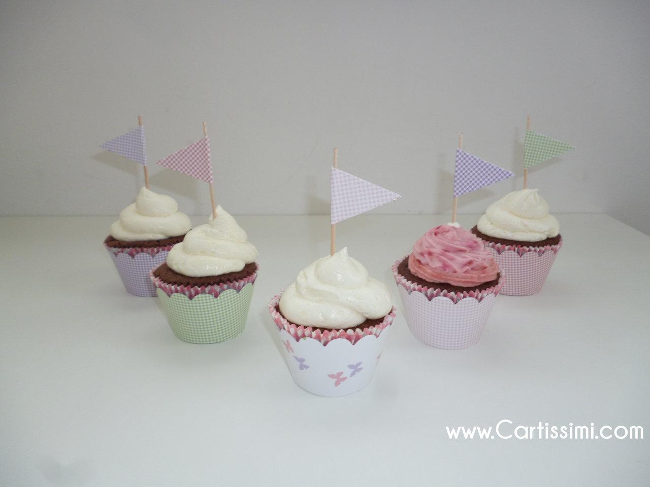 10 MuffinDekoFhnchen Becky Butterfly  wwwCartissimicom