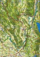 Un échantillon de l'atlas routier pour cyclo-voyageur de la région Auvergne-Rhône-Alpes