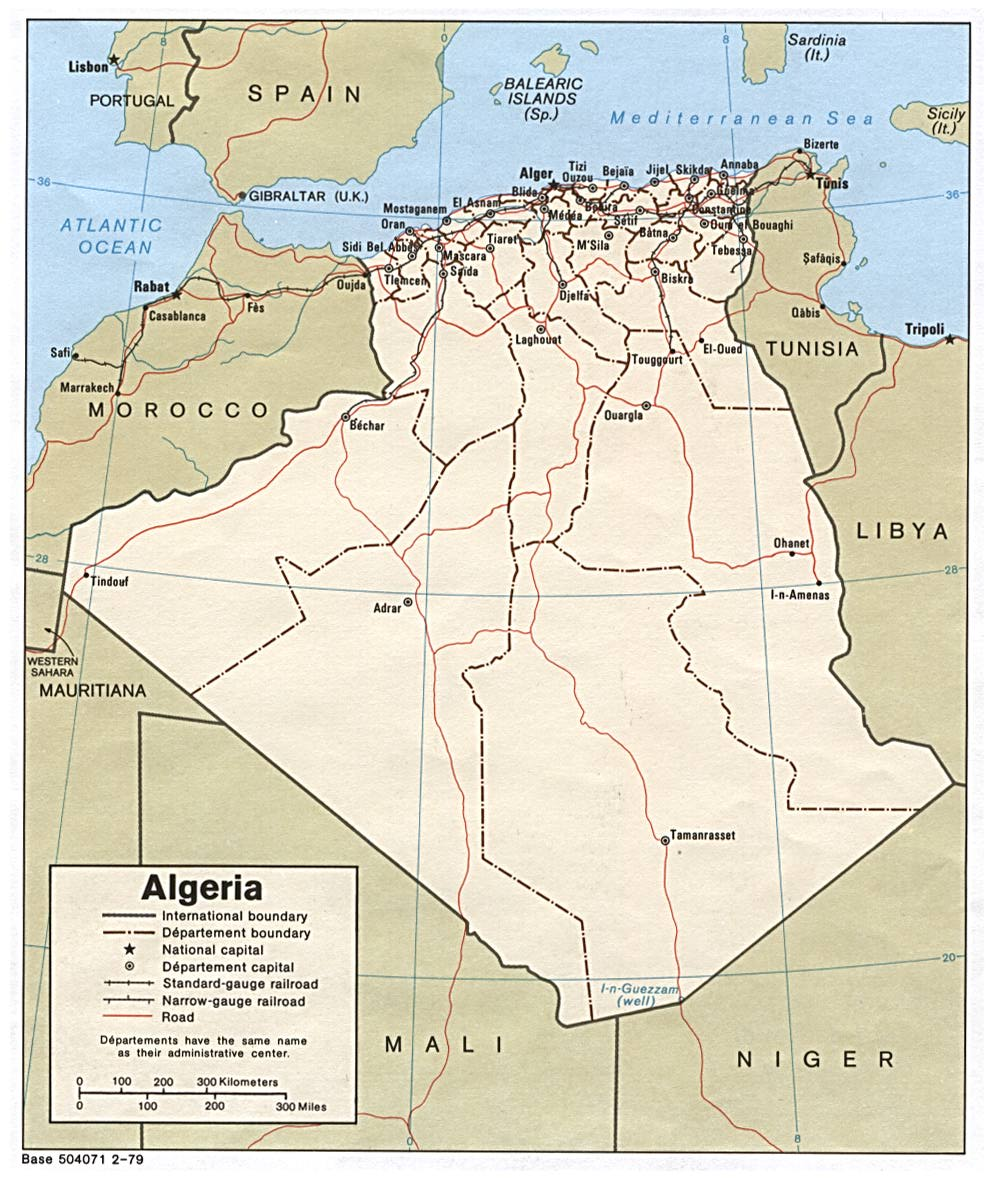 Algerie Carte