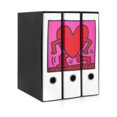 Set 3 raccoglitori Image - Formato Protocollo - Dorso 8 cm - Keith Haring - Cuore che cammina