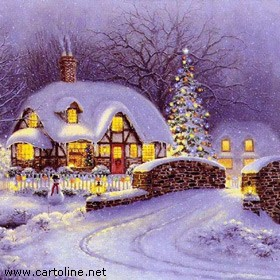 Auguri con atmosfera natalizia