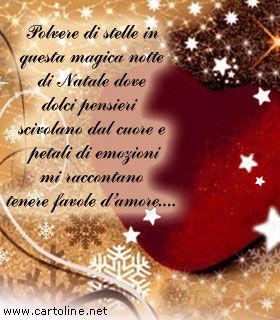 Frasi d'auguri di buon natale da dedicare alla vostra lei. Romantico Pensiero Di Natale