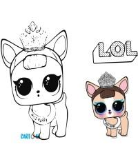 Colora Miss Puppy dei Pets Lol Surprise - Cartoni animati