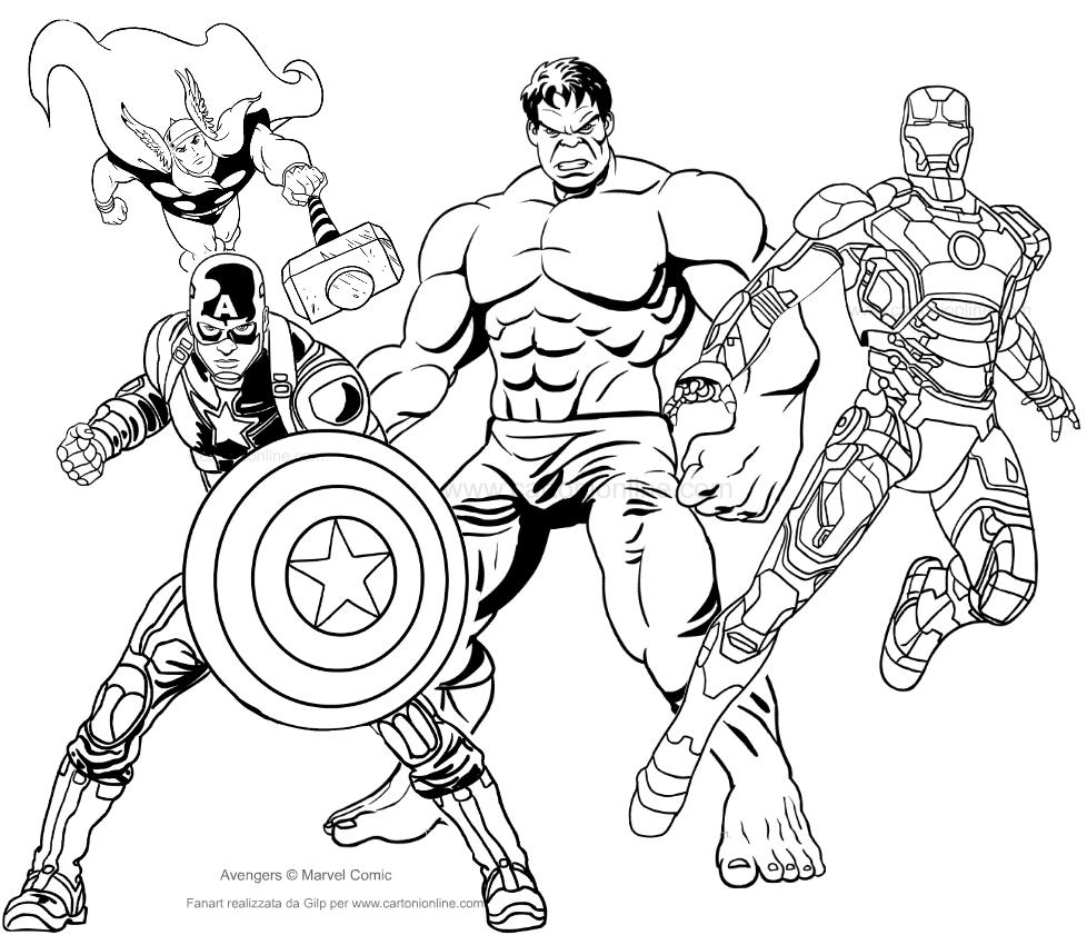 Disney xd avengers coloring pages ~ Dibujo de los Avengers para colorear